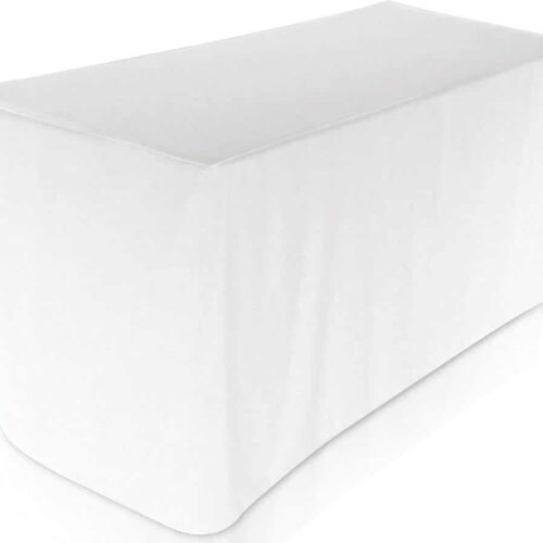 Event Resource Center White Fitted Table Cloth