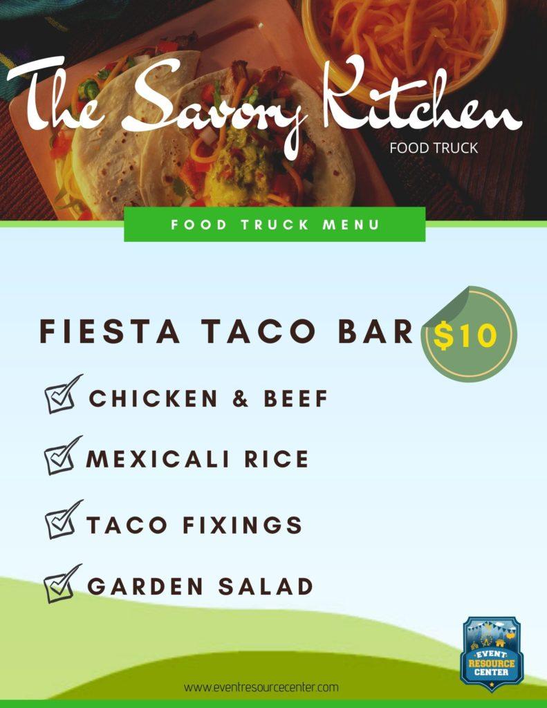Savory Food Truck Taco menu
