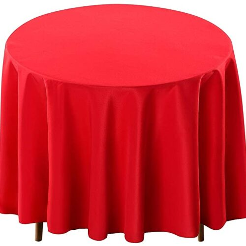 Red 120 inch Tablecloth